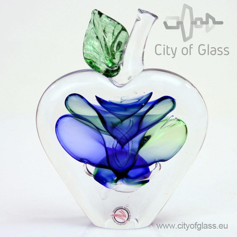 Kristallen appel van Ozzaro in rood, geel en blauw