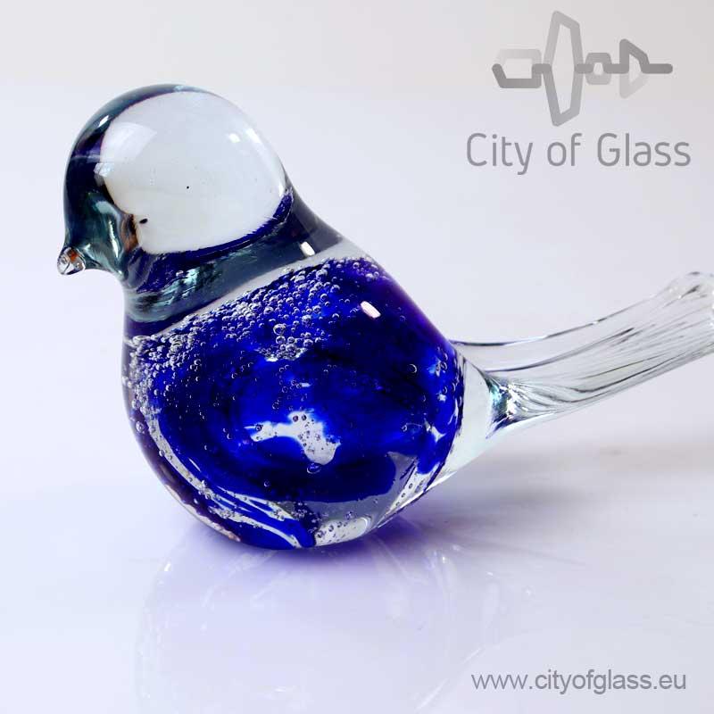 Blauwe vogel van Glas - Loranto