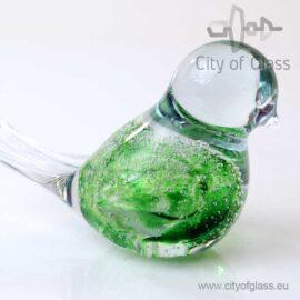 Glazen vogeltje van Loranto bubble - groen