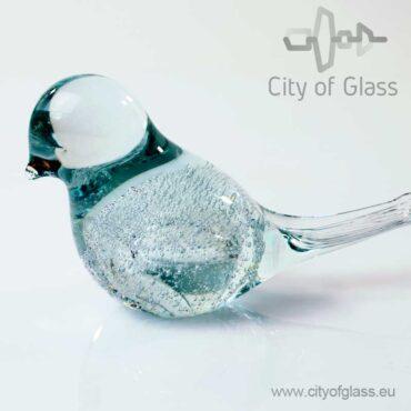 Glazen vogeltje van Loranto bubble - transparant