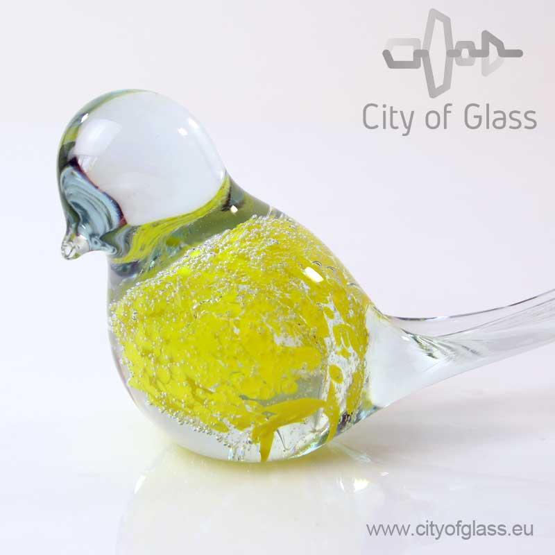 Geel vogeltje van Glas - Loranto