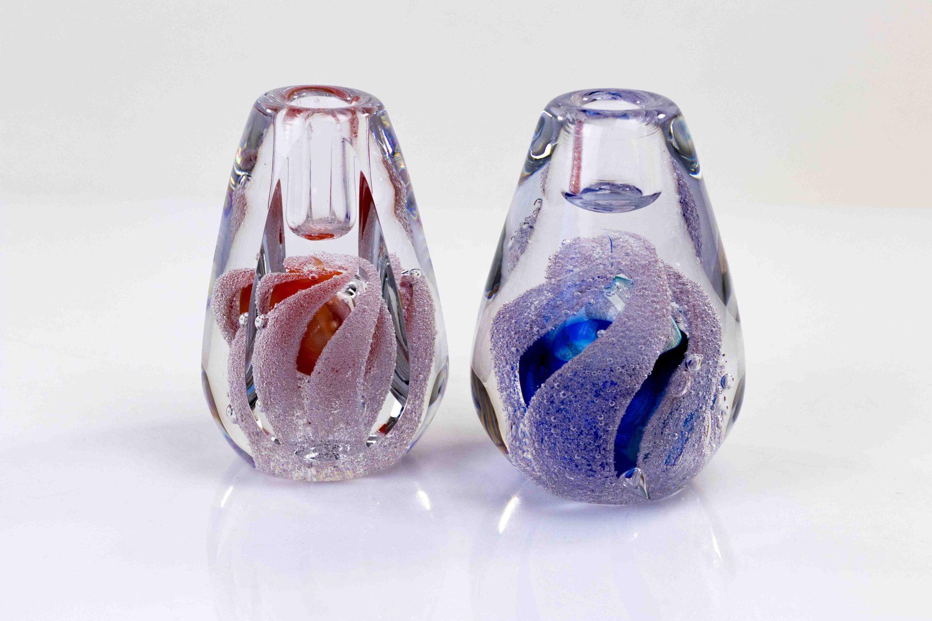 kandelaar boheems kristal,