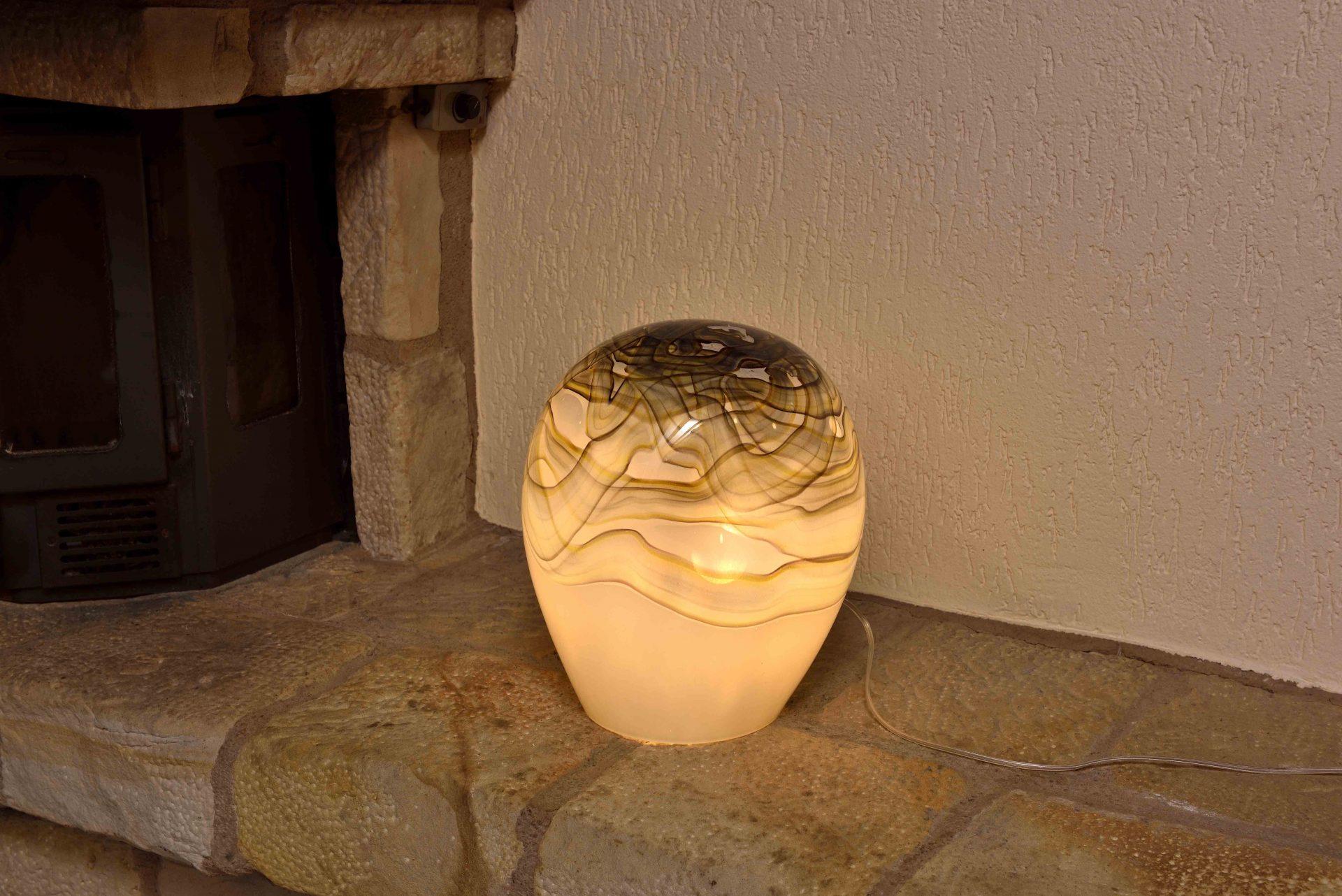 Glazen Lamp 'Earth' - 36 cm.