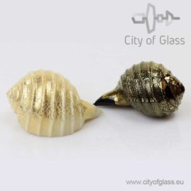Murano glass object Shell with goldleaf