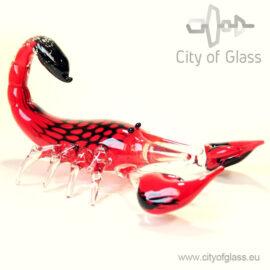 Kristallen schorpioen van Ozzaro - rood