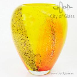 Glazen vaas Yellow - bol