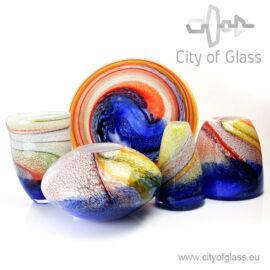 Glass vases Palette