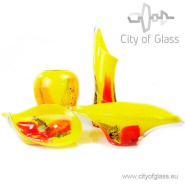 Glazen vaas Yellow van Loranto - 60 cm