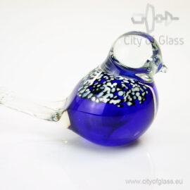 Glazen vogeltje van Loranto - blauw