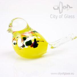 Glazen vogeltje van Loranto - geel