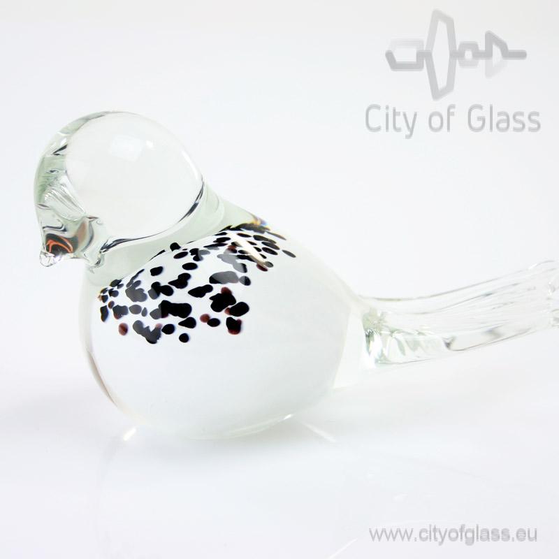 Glazen vogeltje van Loranto - wit
