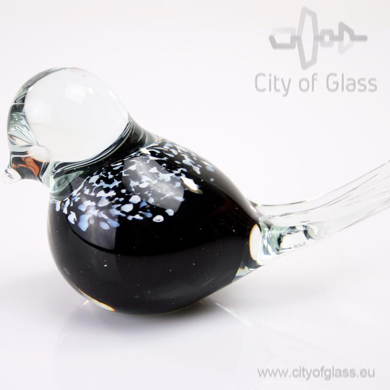 Glazen vogeltje van Loranto - zwart