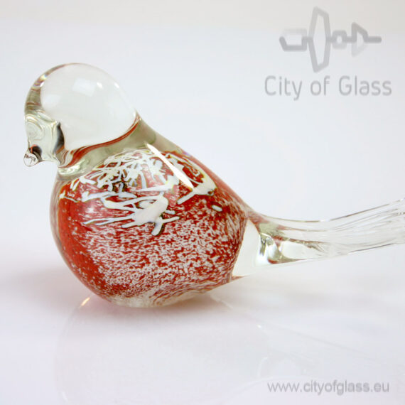 Glazen vogel van Loranto - rood