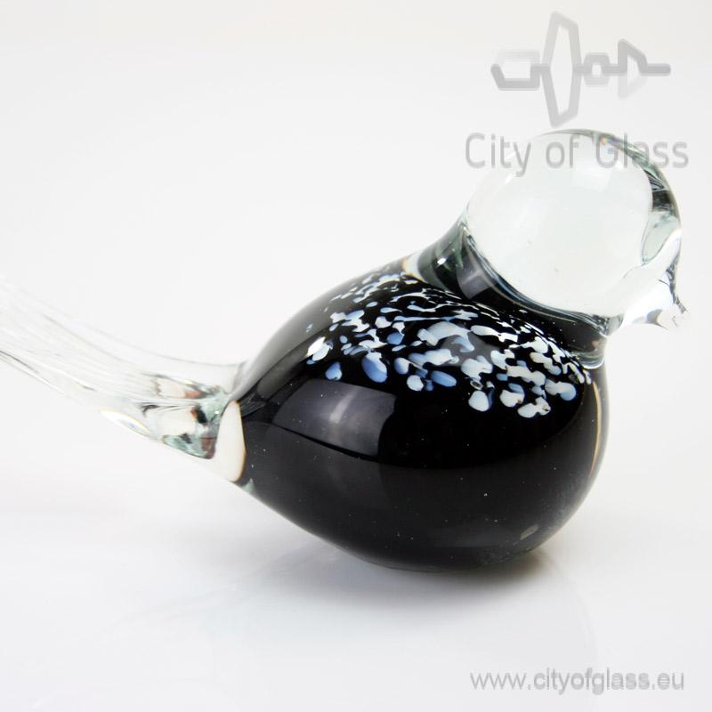 Zwart vogeltje van Glas