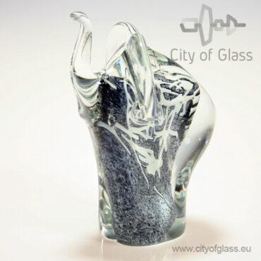 glazen olifant van Loranto - grijs