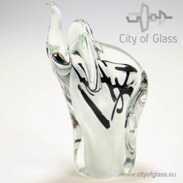 glazen olifant van Loranto - wit