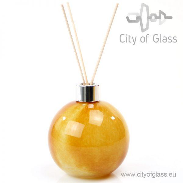 Glazen diffuser - bol goud
