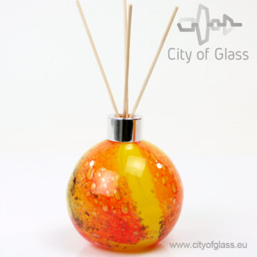 Glazen diffuser - bol geel/oranje