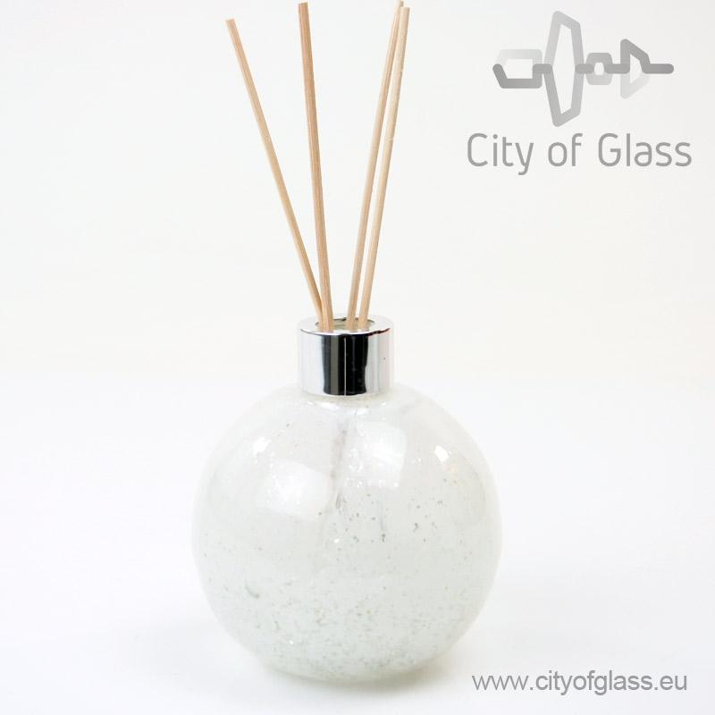 Glazen diffuser van Loranto - bol wit