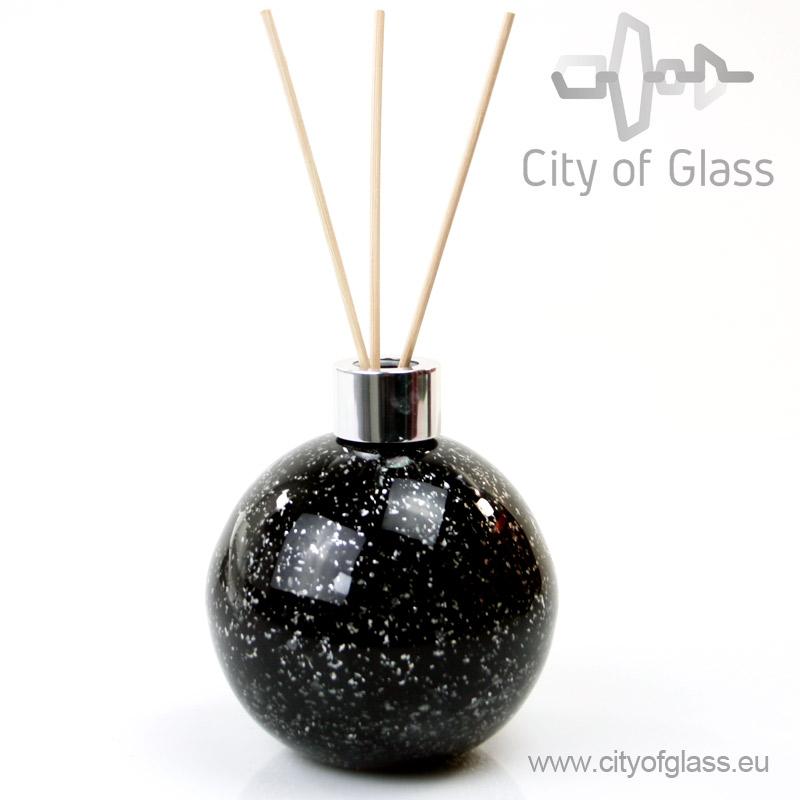 Glazen diffuser - bol zwart