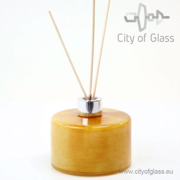 Glazen diffuser - cilinder goud