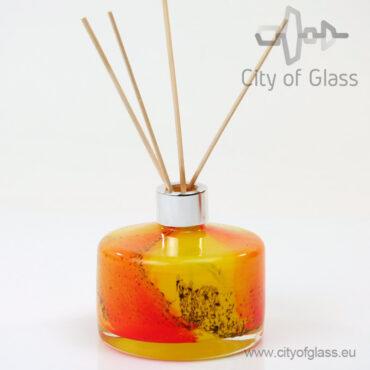 Glazen diffuser van Loranto - cilinder geel/oranje