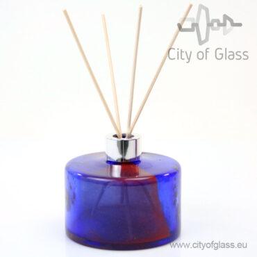 Glazen diffuser - cilinder rood/blauw