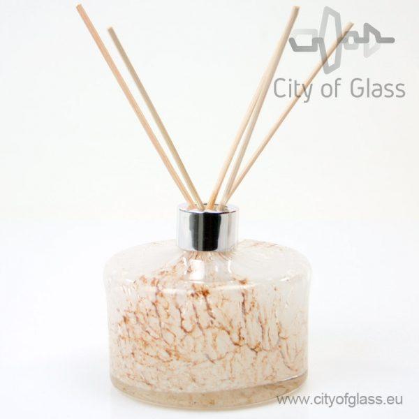 Glazen diffuser - cilinder wit/bruin