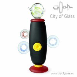Glass urn object Black by Loranto - 45 cm