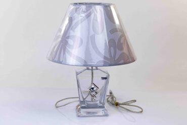 glazen lamp met lampenkap,