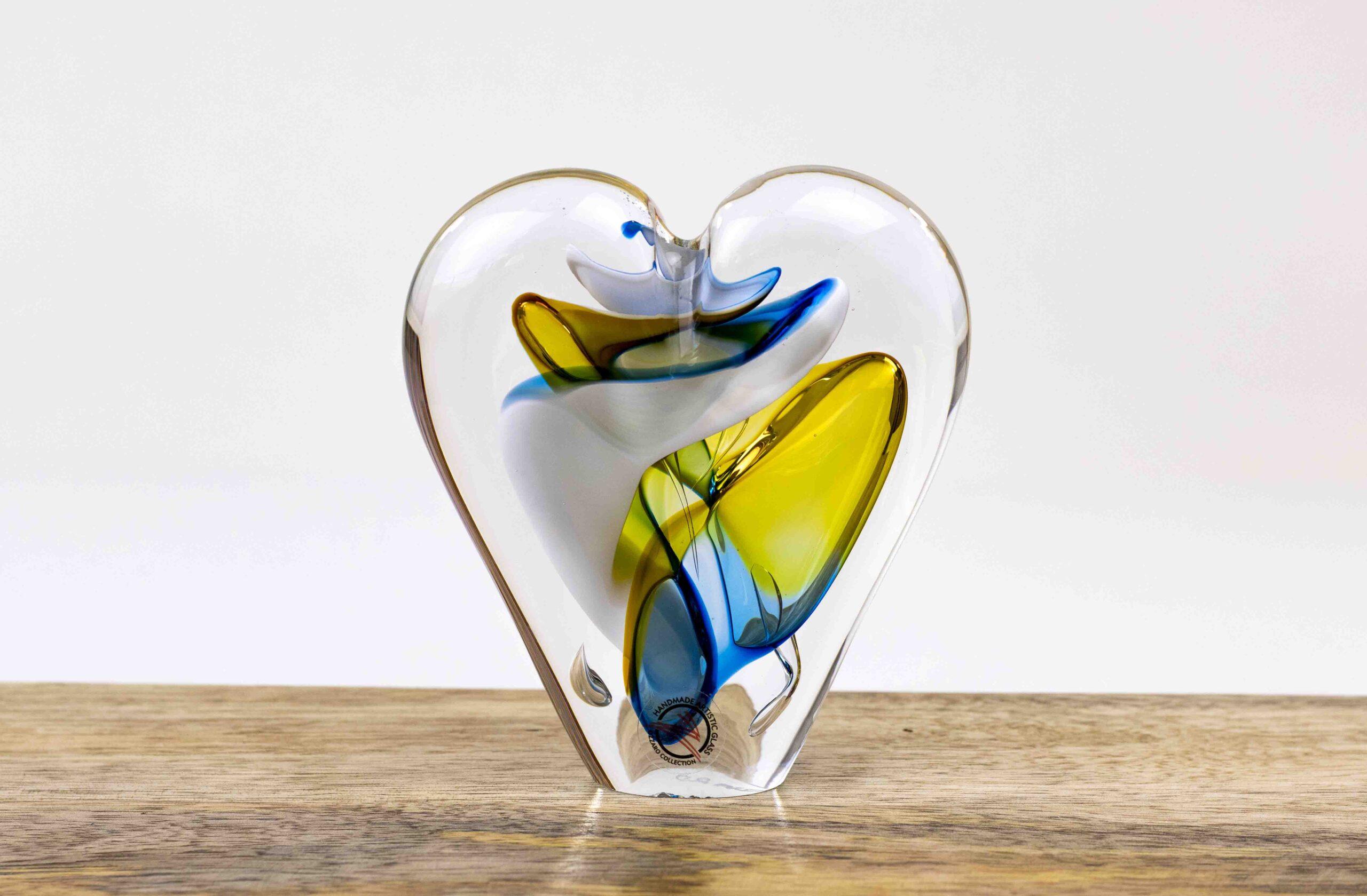 hart kristal cadeau