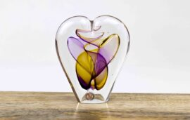hart kristal cadeau,