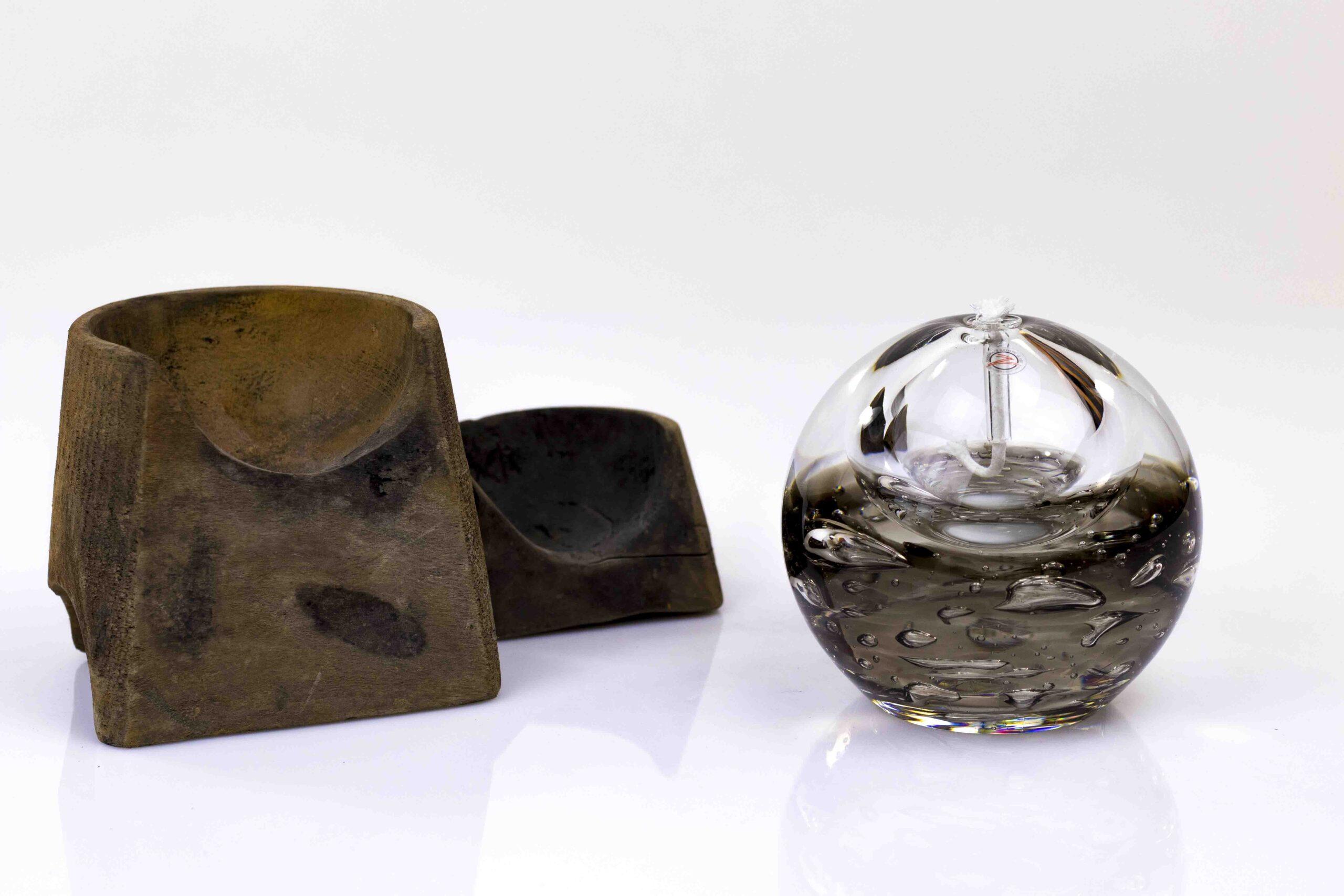 Olielamp van Ozzaro Boheems Kristal