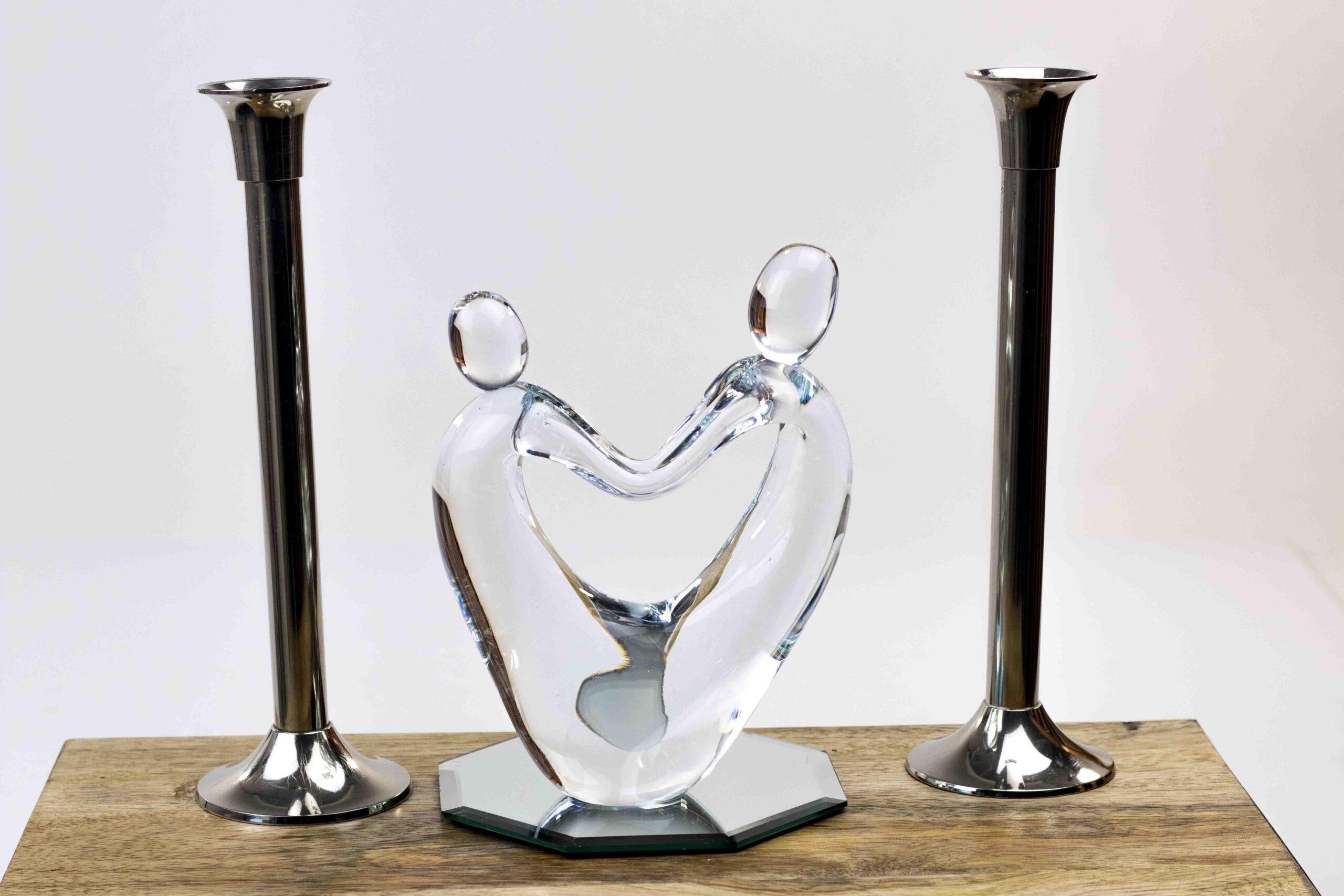 glassculptuur samen,