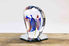 luxe glascadeau rood blauw,
