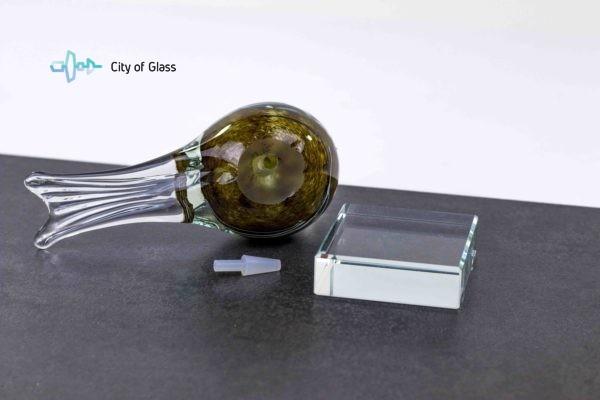 mini urn vogel van loranto glas,