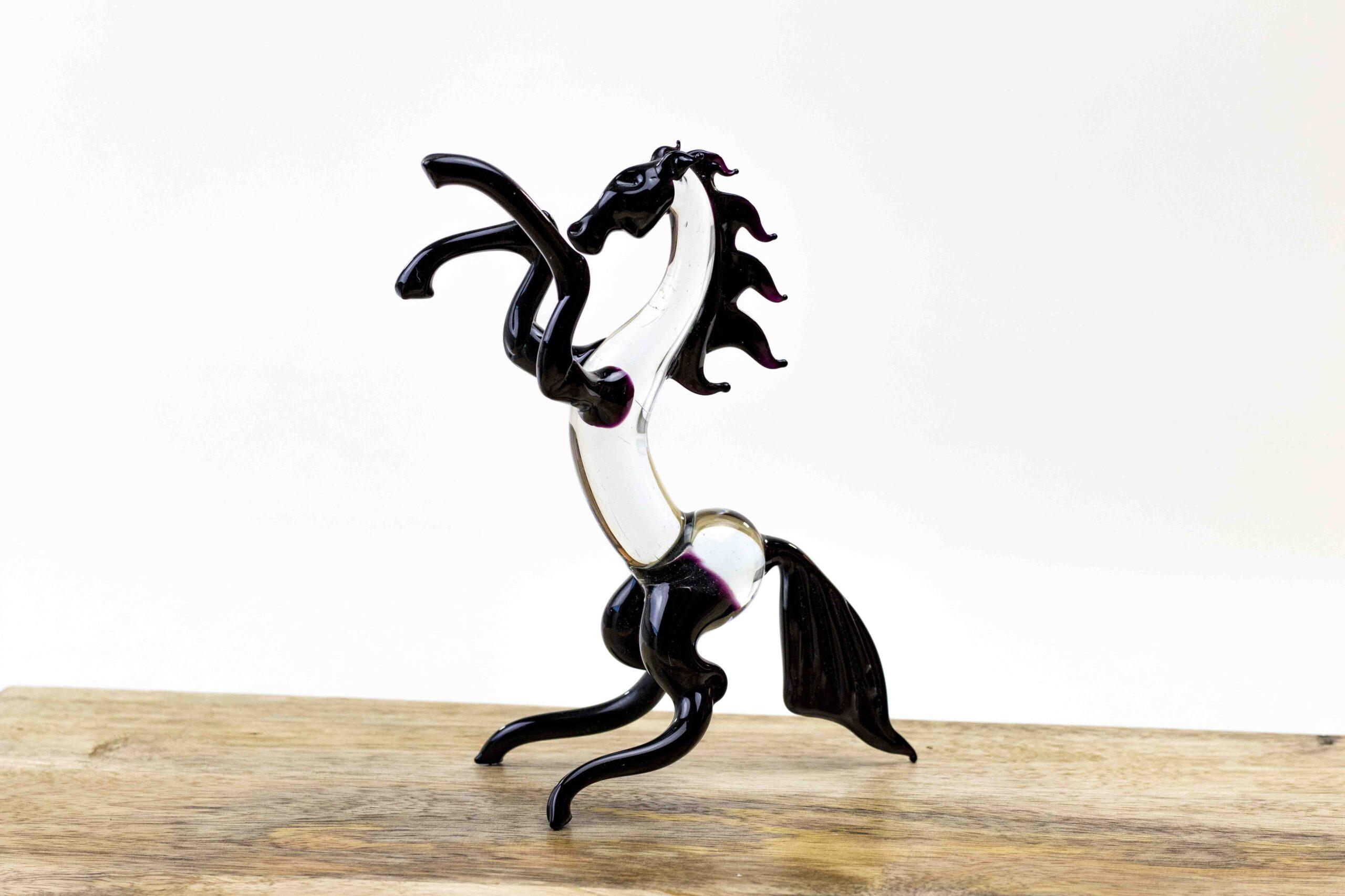 paard sculptuur van glas,