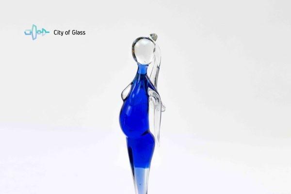 zwangere vrouw glas sculptuur van loranto,
