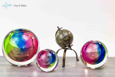 Kristallen Bolvaas Leerdam regenboog kleuren Ozzaro
