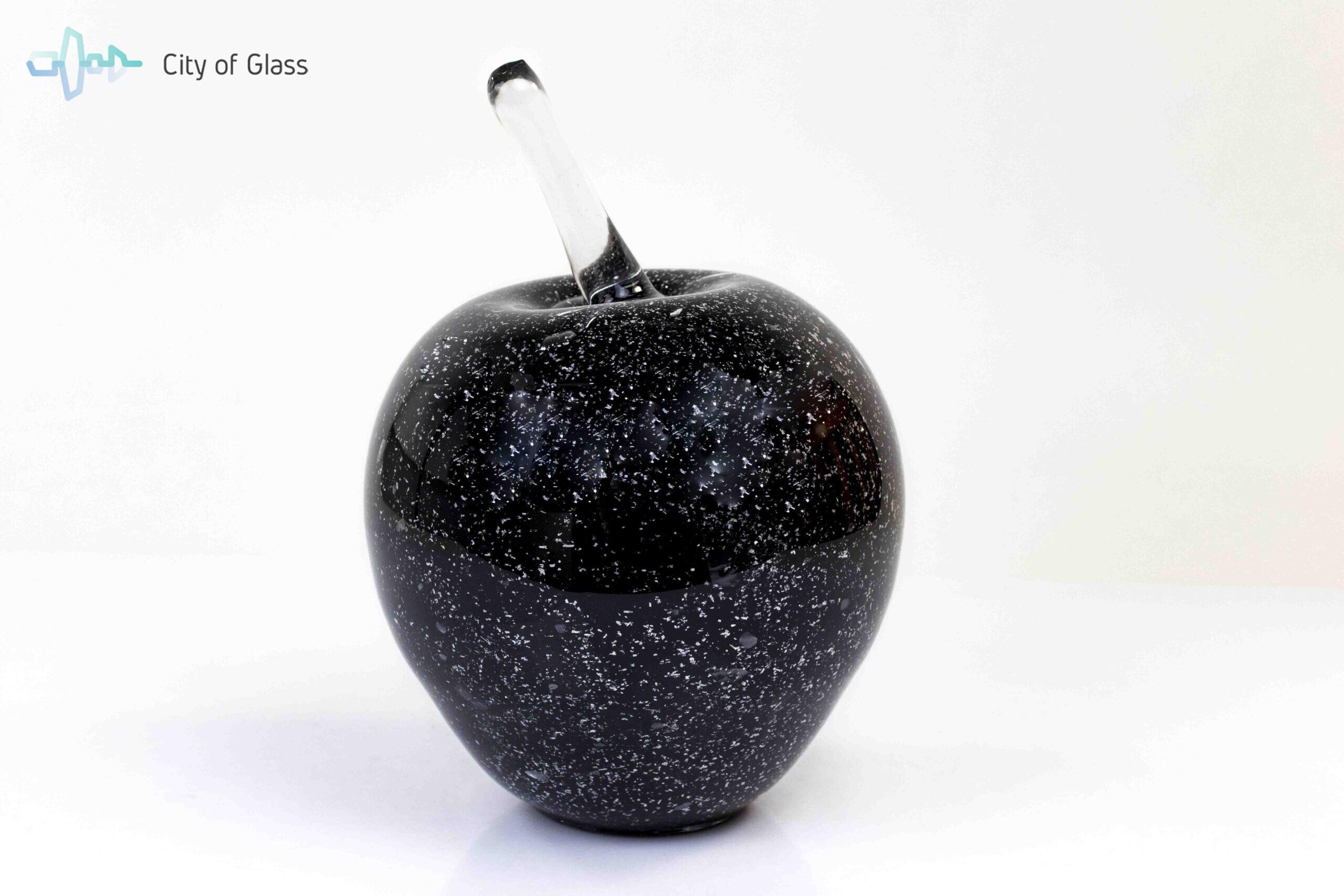 appel zwart met zilver loranto glas,