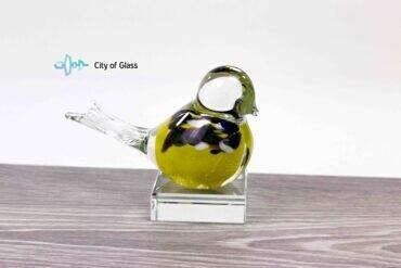 mini urn vogel geel loranto,