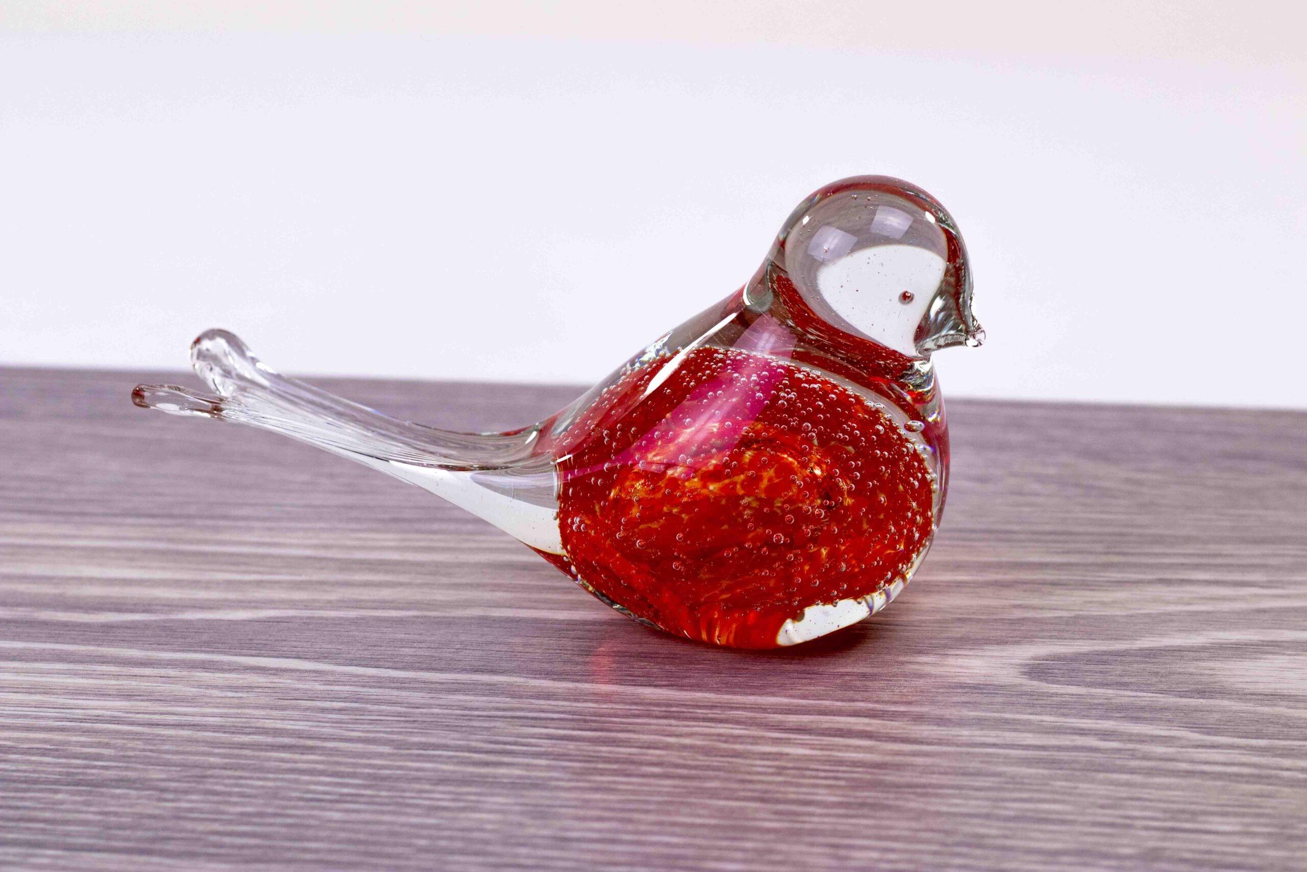 mini urn vogel rood loranto,