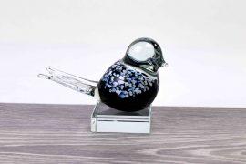 mini urn vogel zwart loranto,