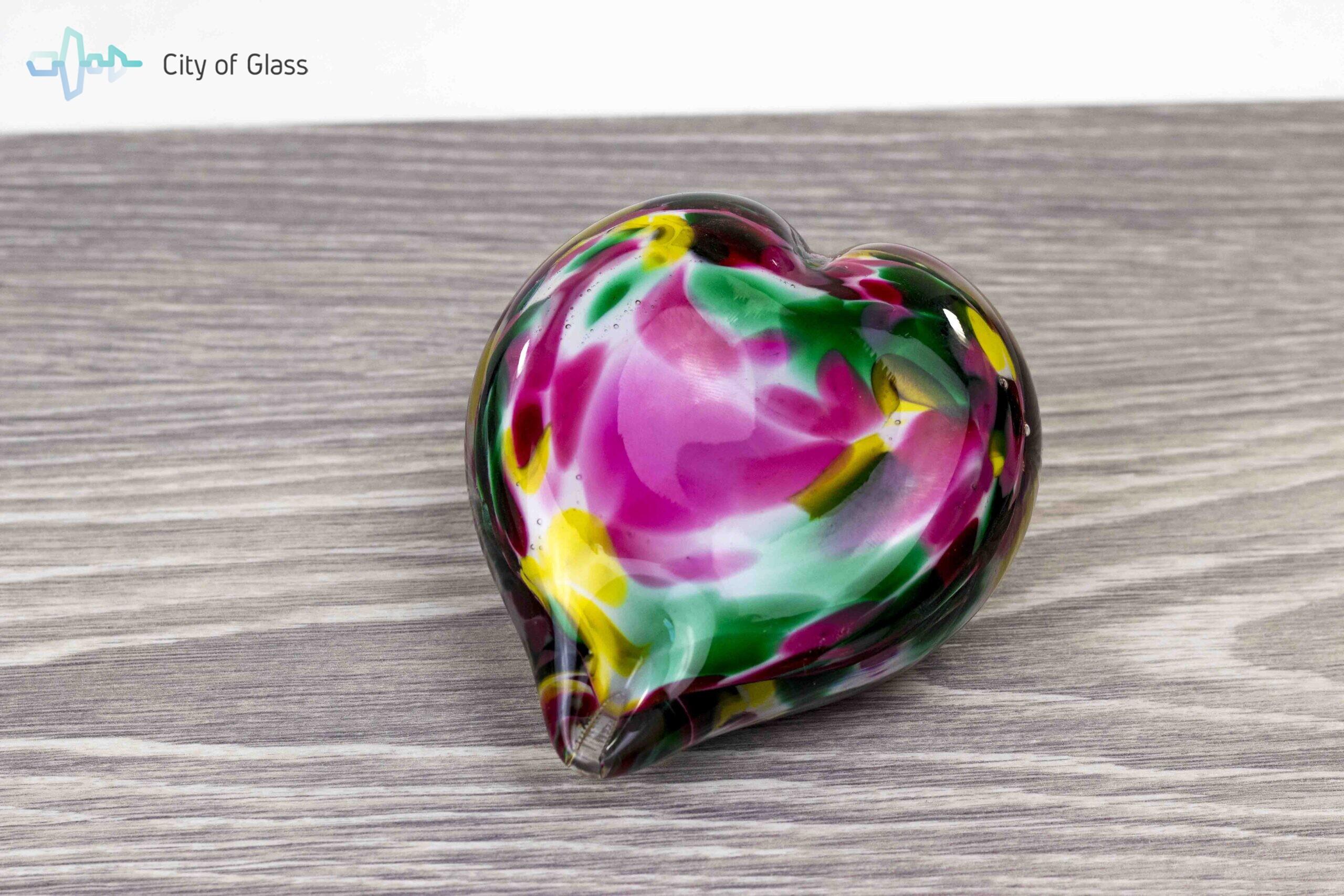 Mini Urn Hart Kleur Loranto Glas 12 cm