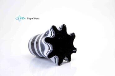 bloemenvaas zebra met zwarte binnenkant loranto,