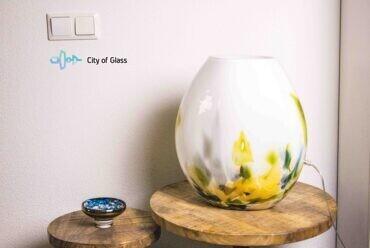glazen lamp monet,