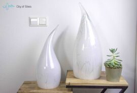 glazen lamp casper silver line,