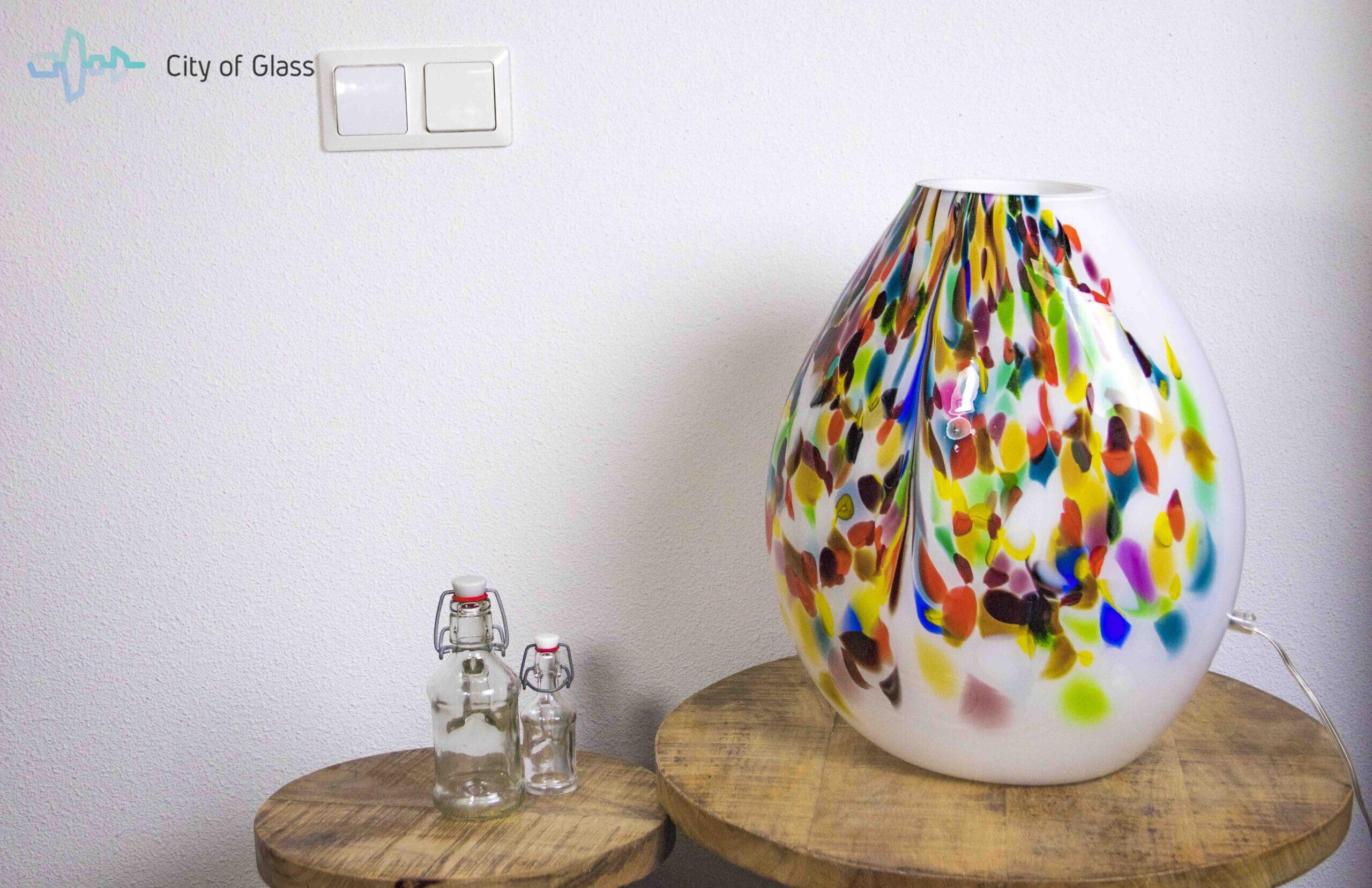 glazen lamp murrina,