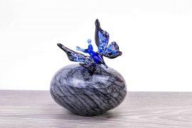 mini urn vlinder blauw,