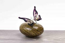 mini urn met vlinder,